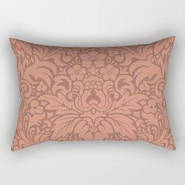 Odyssey Mandala Apricot Backdrop Rectangular Pillow