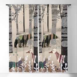 Forest in Sweater Blackout Curtain