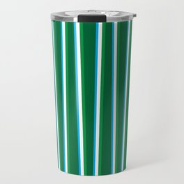 Between the Trees - Forest Green, Green & Blue #811 Travel Mug