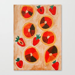 Strawberries and Blood Oranges Canvas Print