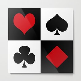 Playing card Metal Print
