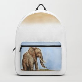 The Majestic African Elephant Backpack