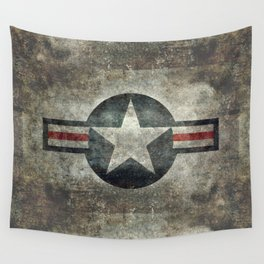Stylized US Air force Roundel Wall Tapestry