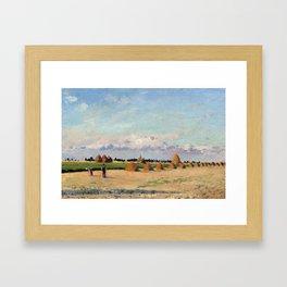 Camille Pissarro Landscape, Ile-de-France Framed Art Print