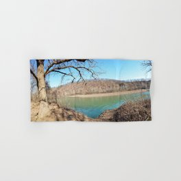 Home of Ancient Hunter-Gatherers --- The Illinois River, No. 4 Hand & Bath Towel