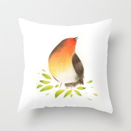 Robin Rossignol Throw Pillow