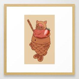 Taiyaki Icecream Cat Framed Art Print