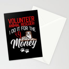 Volunteer Animal Rescuer for Pet Owners Stationery Cards