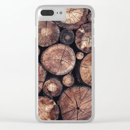 The Wood Holds Many Spirits Clear iPhone Case
