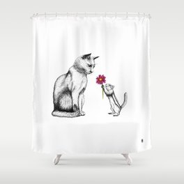 Doting Chippy Shower Curtain