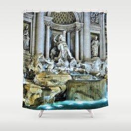 Rome, Italy - Trevi Fountain Shower Curtain