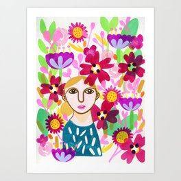 Hiding in the Garden Art Print