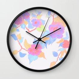 Fleurs fluorescentes Wall Clock
