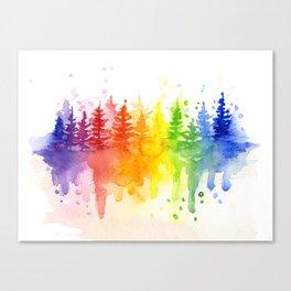 Rainbow Forest Canvas Print