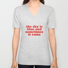 The Sky Is Blue (Truth Wows) Unisex V-Neck