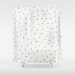 Bubble Gum White Tiger Cub Shower Curtain