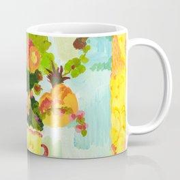 Aqua Butter Flowers Coffee Mug