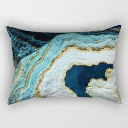 Aerial Ocean Abstract Rectangular Pillow