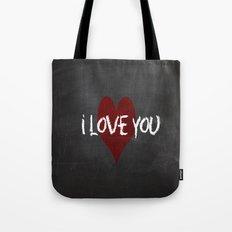 Valentines I love you Chalkboard Design Tote Bag