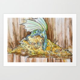 Dragon's Treasures Art Print