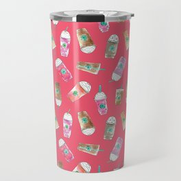 Coffee Crazy Toss in Coral Travel Mug