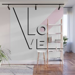 True Love Never Ends - black, white & pink #love Wall Mural