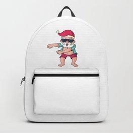 Funny Christmas t-shirt Santa Claus Reindeer  Backpack