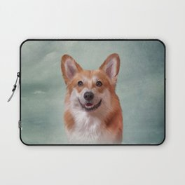 Drawing Dog breed Welsh Corgi portrait Laptop Sleeve