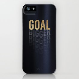 Goal Digger - Gold on Black iPhone Case