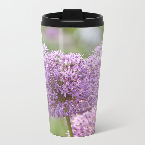Purple Dream - Allium Globemaster #1 #decor #art #society6 Metal Travel Mug