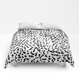 Retro Themed Dot Pattern Design Comforters