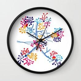 Fireworks Tree Wall Clock