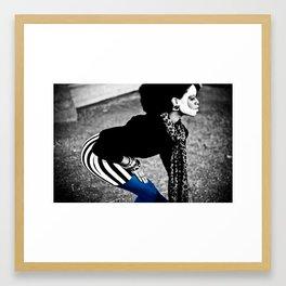 Blue Lean Framed Art Print