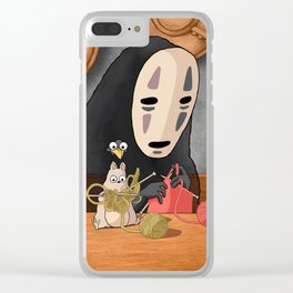 Spirited Away - Boh and No Face Knitting Clear iPhone Case