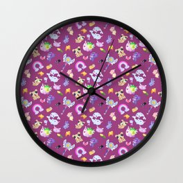 Star vs the Forces of Evil Pattern ( Pink ) Wall Clock