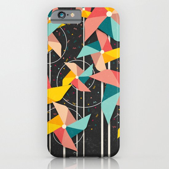 Colourful Pinwheels iPhone & iPod Case