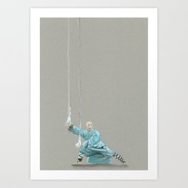 Paths to the waterfall - three - Tai Chi Art Print