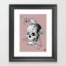 Skull one B Framed Art Print