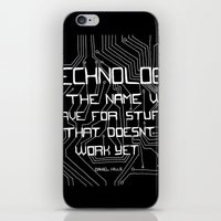 technology iPhone & iPod Skins featuring Technology by Hollie B
