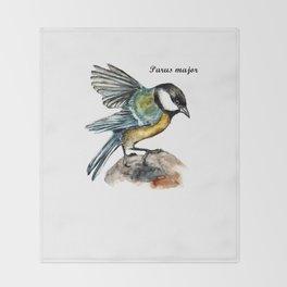 Parus Major Throw Blanket