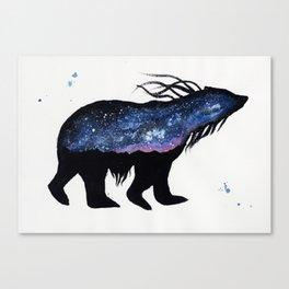 Milky Way Bear Canvas Print