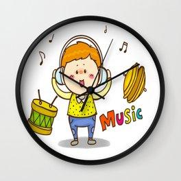 The Music Boy Wall Clock