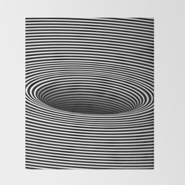 Black Hole Vertigo Throw Blanket
