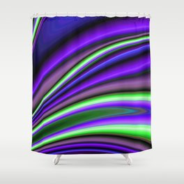 Abstract Fractal Colorways 01PL Shower Curtain