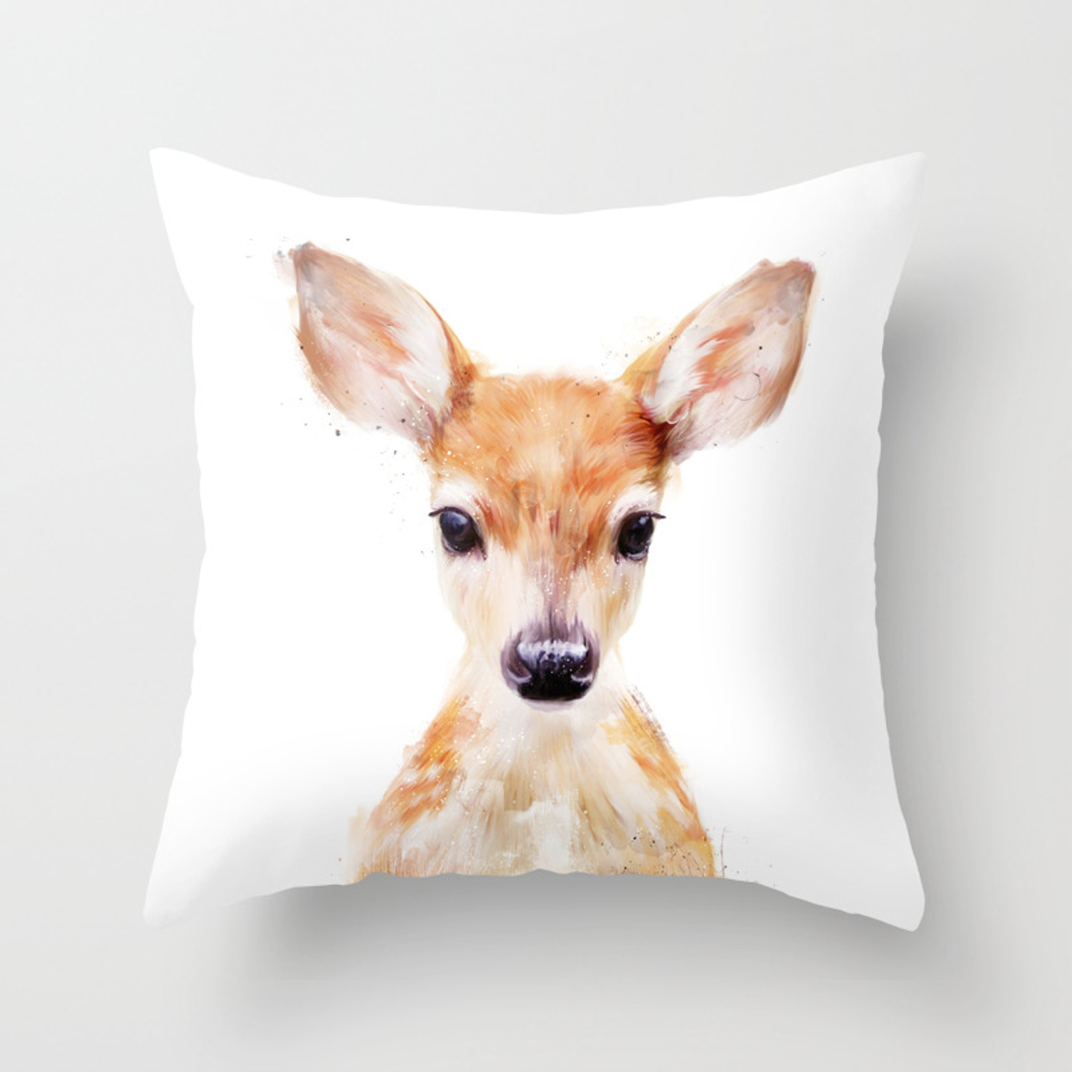 Magnificent Little Deer Throw Pillow Inzonedesignstudio Interior Chair Design Inzonedesignstudiocom