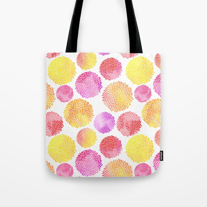 Yellow Red Purple Fireworks Tote Bag