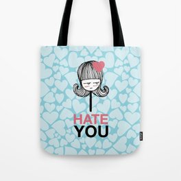 I Hate You / Lollipop Tote Bag