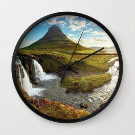 Kirkjufell Grundarfjorour Iceland Ultra HD Wall Clock