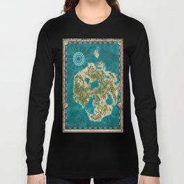 Pirate Adventure Map Long Sleeve T-shirt