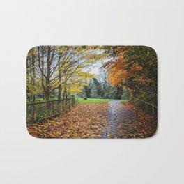 A Stroll Along the Path to Autumn Bath Mat